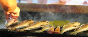Poissons grillés à la plancha